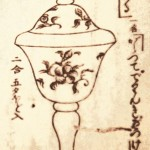fig14: drawing of glass goblet